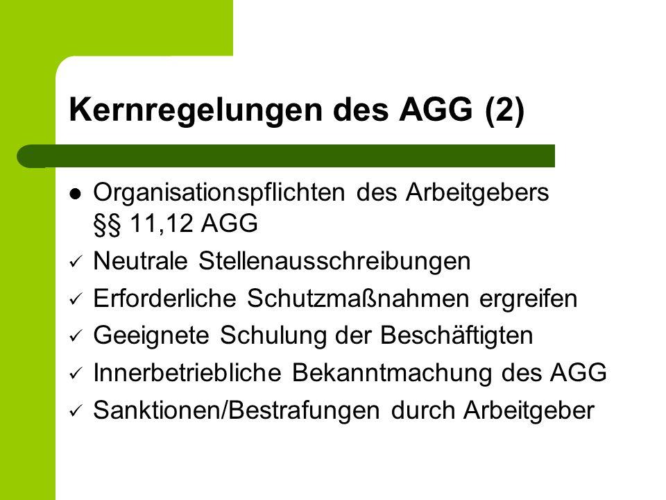 2.Benachteiligungsformen im AGG 4.