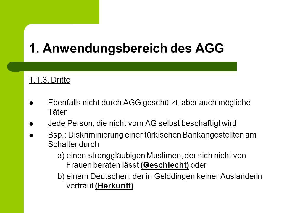 3.Benachteiligungsmerkmale nach dem AGG 3. Religion oder Weltanschauung Religion ist …..