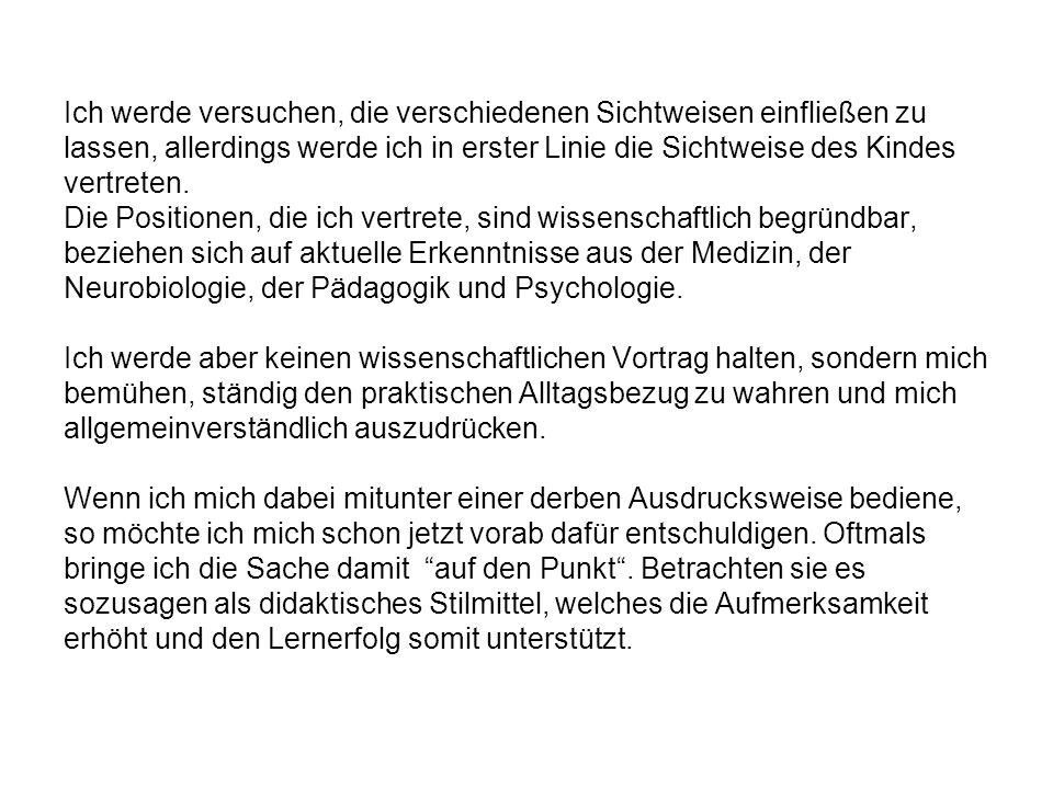 -Einschulung - 01/2005 - Folie 04 Schulreife – fähig für den Ernst des Lebens.