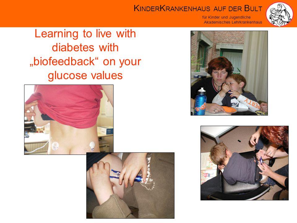 K INDER K RANKENHAUS AUF DER B ULT für Kinder und Jugendliche Akademisches Lehrkrankenhaus Learning to live with diabetes with biofeedback on your glucose values