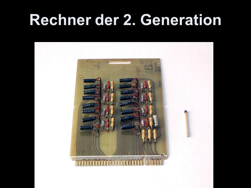 Rechner der 2. Generation Modul au s Siemens 2002 (ca. 1958)
