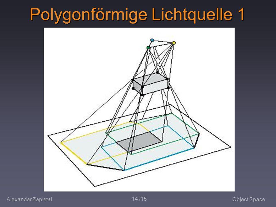 Alexander ZapletalObject Space 14 /15 Polygonförmige Lichtquelle 1