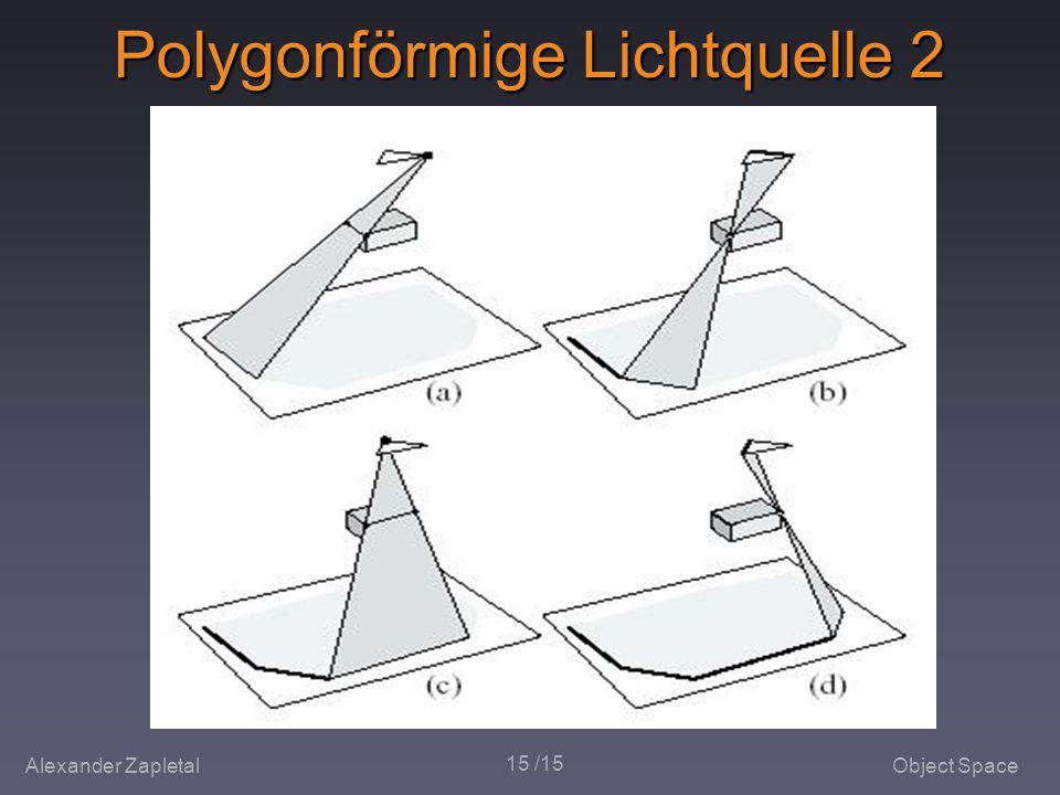 Alexander ZapletalObject Space 15 /15 Polygonförmige Lichtquelle 2