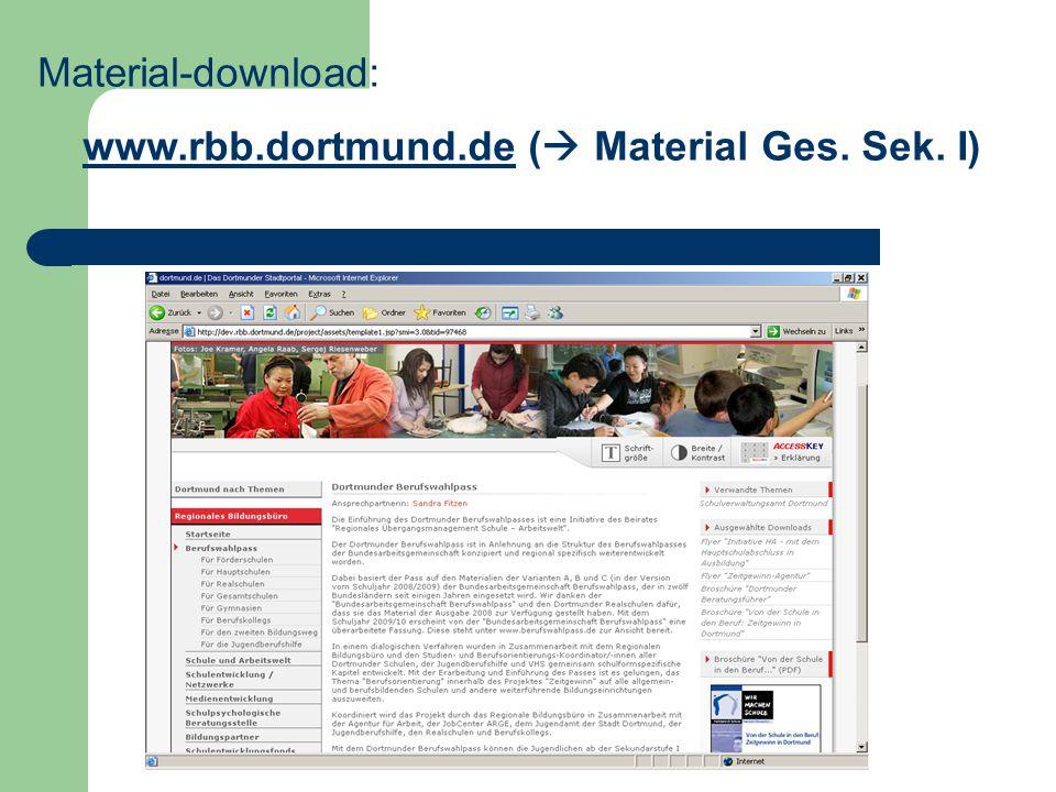 Material-download: www.rbb.dortmund.de ( Material Ges. Sek. I)www.rbb.dortmund.de