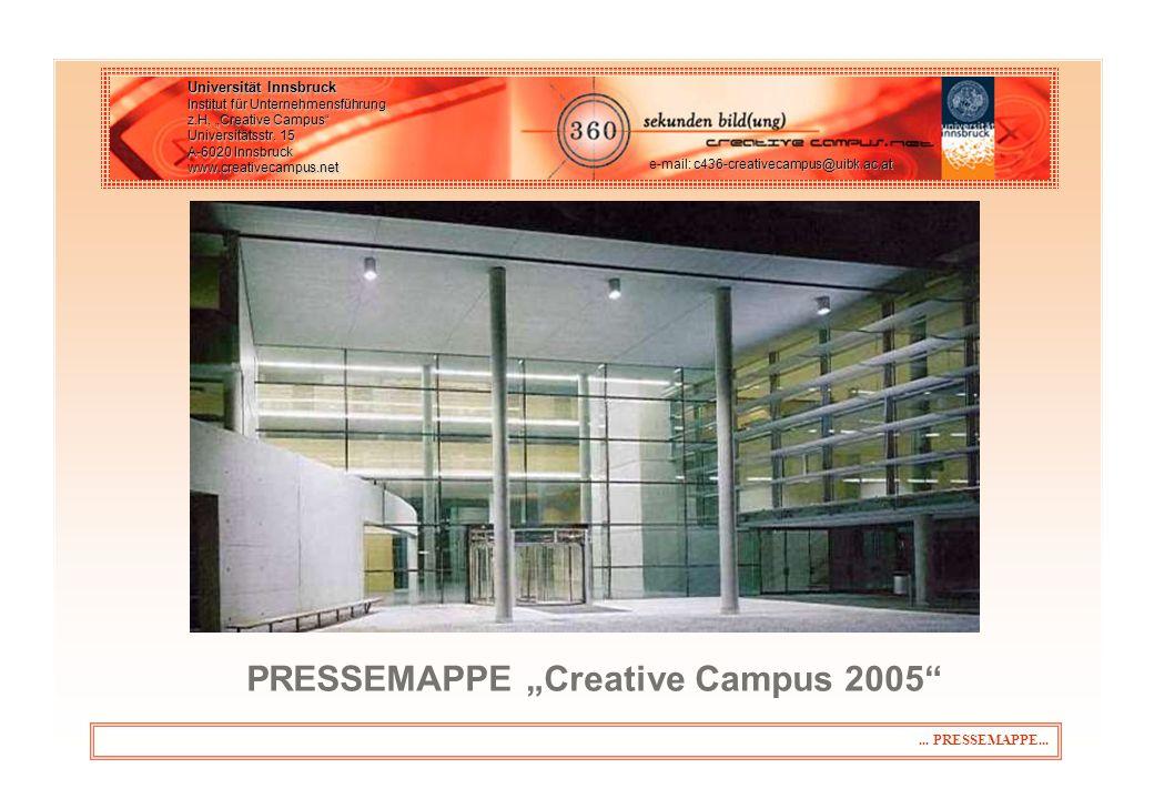 ...PRESSEMAPPE... Universität Innsbruck Institut für Unternehmensführung z.H.