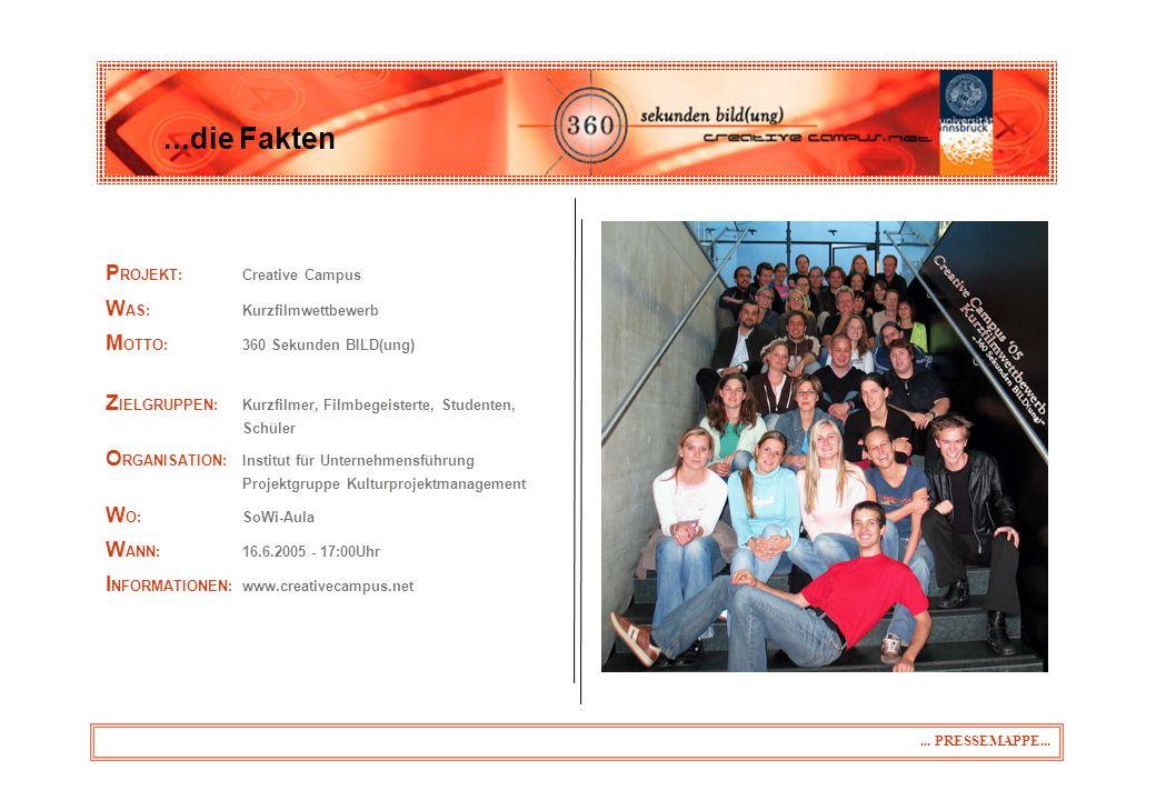Als Vertreter der Presse möchten wir Sie nochmals recht herzlich zu unserem Abschlussevent am Donnerstag, den 16.06.2005 ab 17 Uhr auf dem Gelände der SoWi-Fakultät einladen.