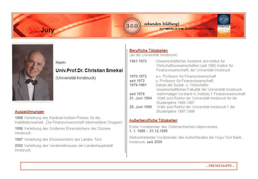 ...Jury...PRESSEMAPPE... Herrn Univ.Prof.Dr.