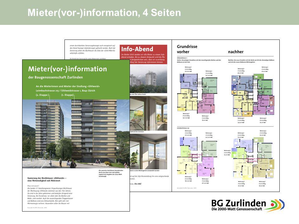 Mieter(vor-)information, 4 Seiten