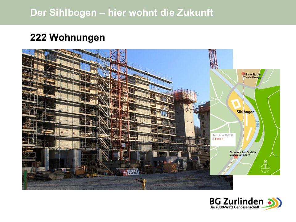 Der Sihlbogen – hier wohnt die Zukunft 222 Wohnungen