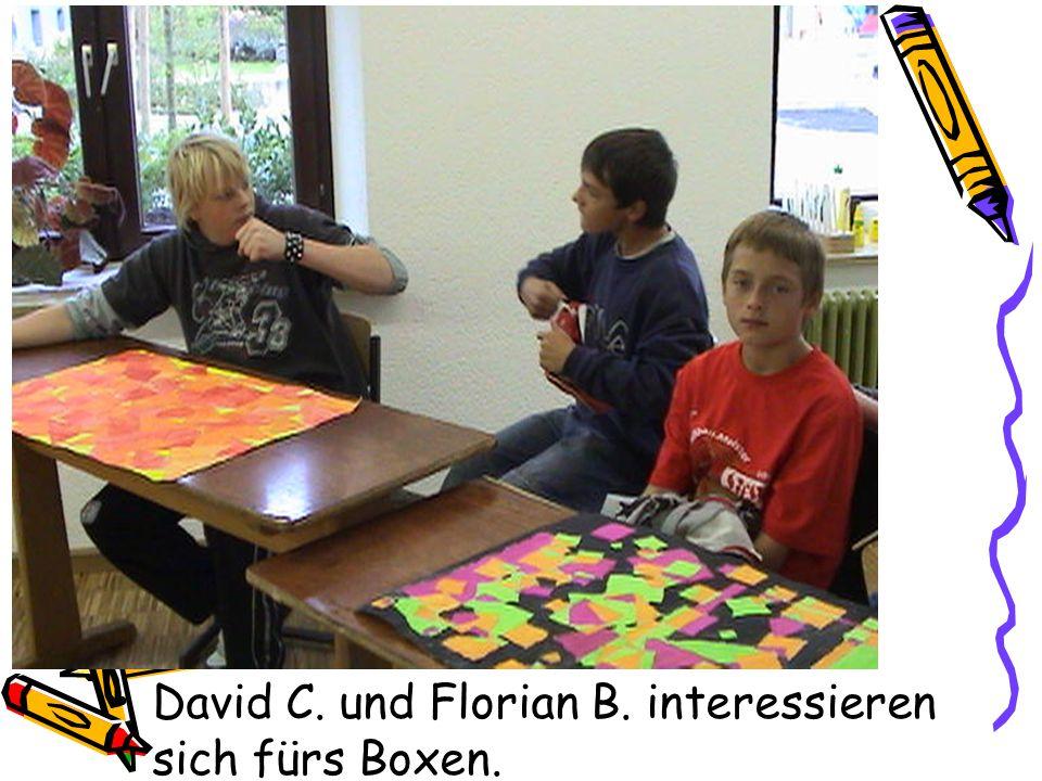 David C. und Florian B. interessieren sich fürs Boxen.