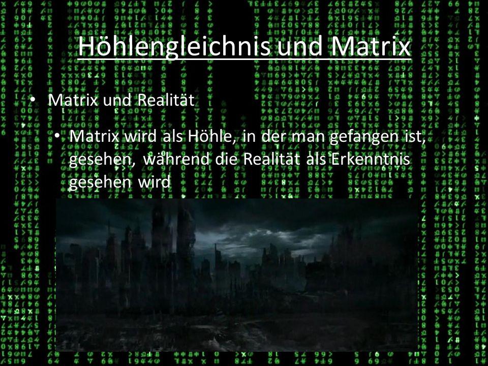 Höhlengleichnis und Matrix Loslösen Das Loslösen der Körperanschlüsse wird als erster Schritt auf dem Weg der Erkenntnis gesehen 26.03.1426.03.14