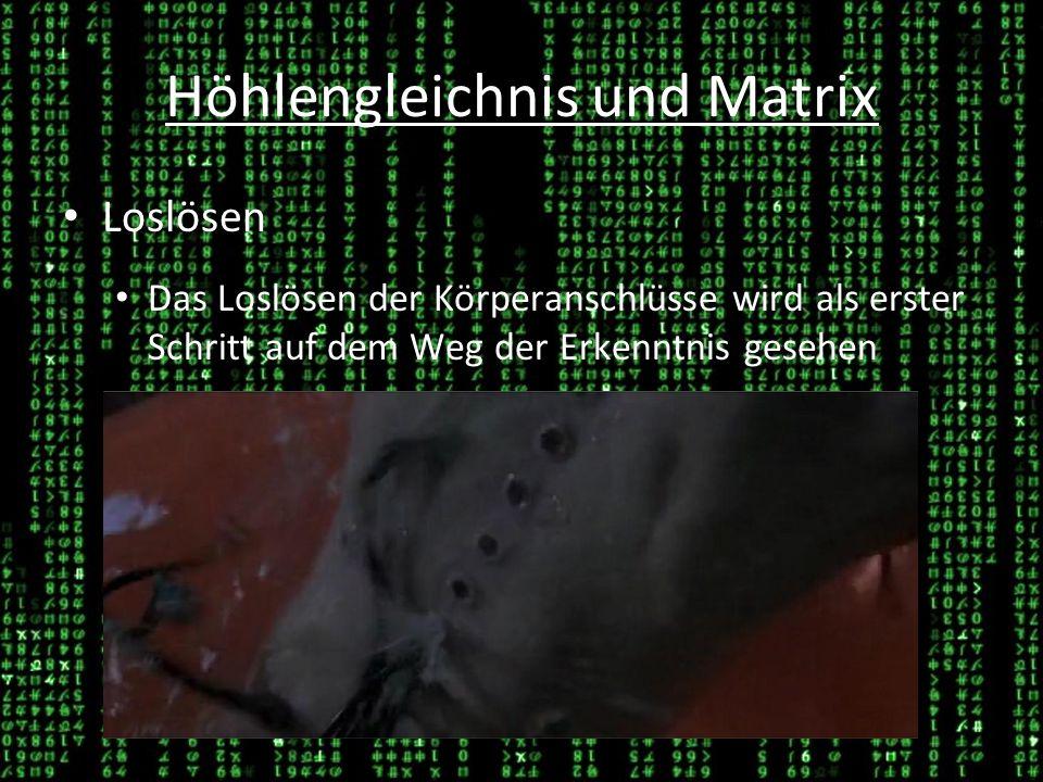 Höhlengleichnis und Matrix Neos Rebellion gegen die Wirklichkeit Der anfängliche Widerstand als das Verlangen in die gewohnte Position zurückzukehren 26.03.1426.03.14