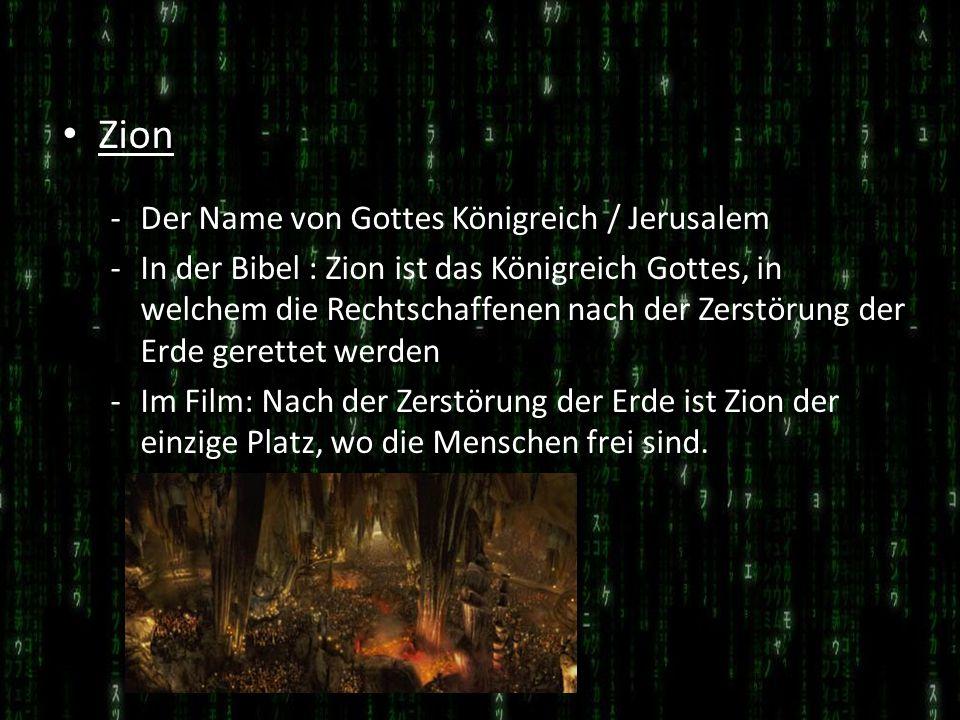 Zion -Der Name von Gottes Königreich / Jerusalem -In der Bibel : Zion ist das Königreich Gottes, in welchem die Rechtschaffenen nach der Zerstörung de
