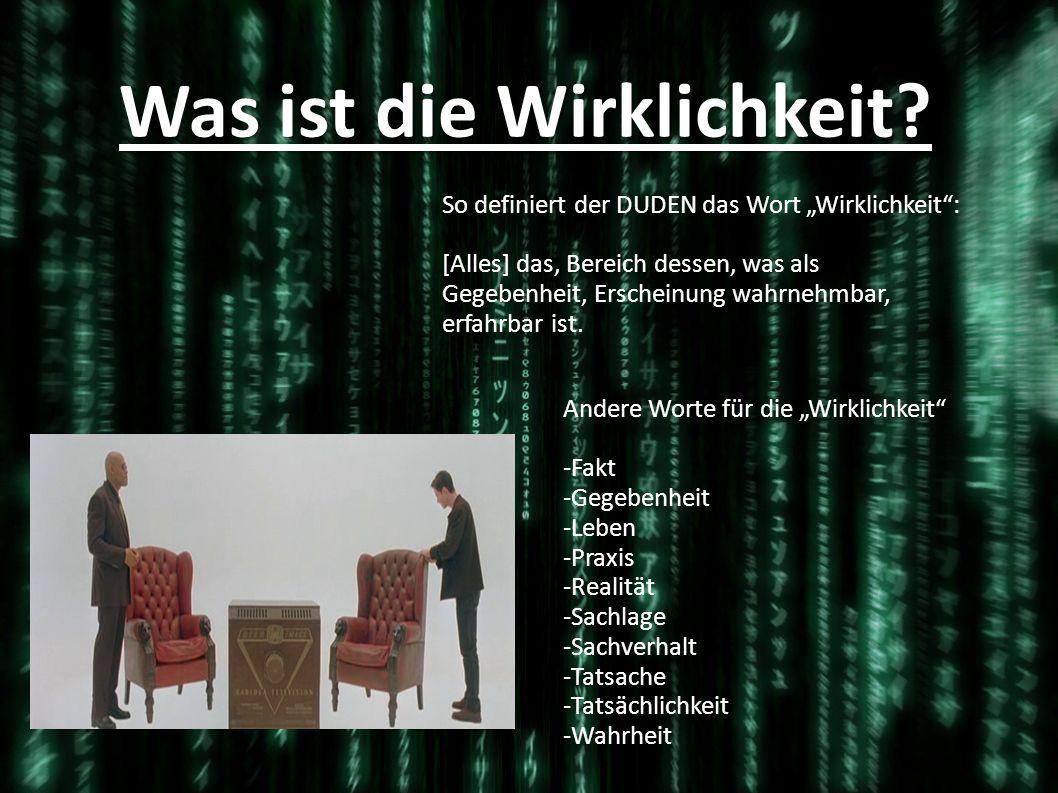 -allgegenwärtig -eine Scheinwelt -Kontrolle -Computergenerierte Traumwelt -Ein System Was ist die Matrix?