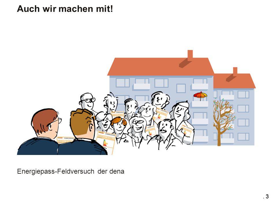 . 3 Energiepass-Feldversuch der dena Auch wir machen mit!. 3