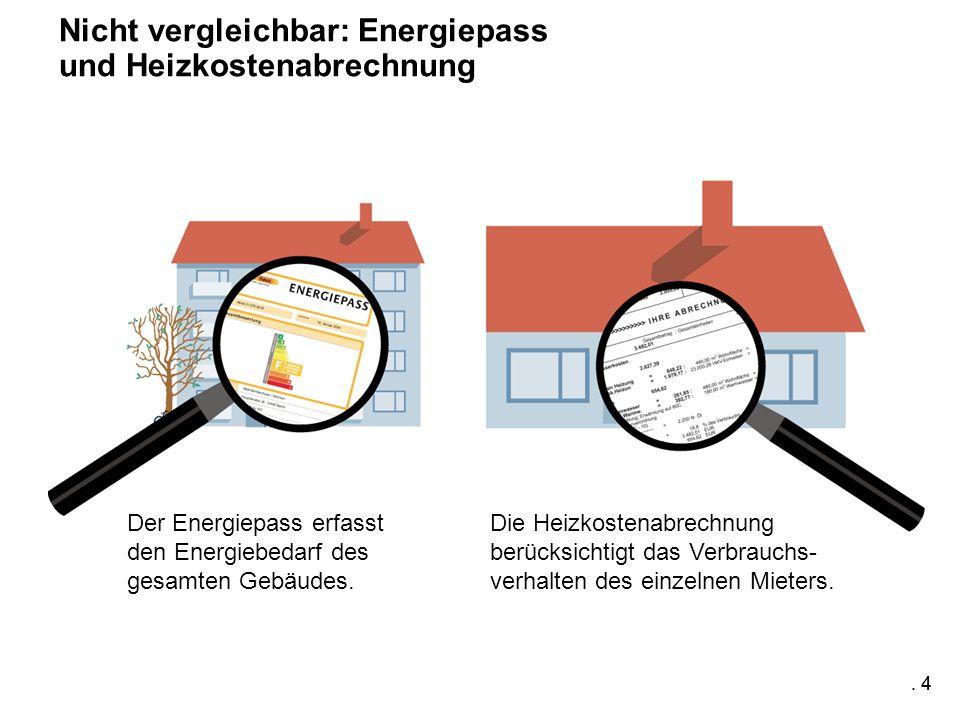 4 Der Energiepass erfasst den Energiebedarf des gesamten Gebäudes.