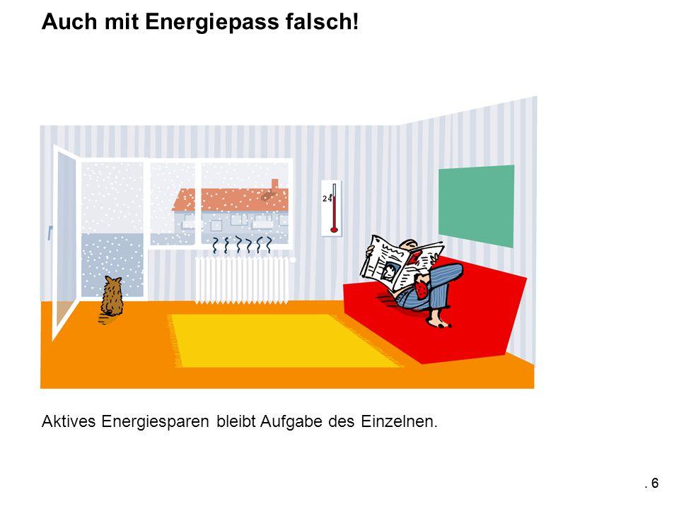 . 6 Aktives Energiesparen bleibt Aufgabe des Einzelnen. Auch mit Energiepass falsch!. 6
