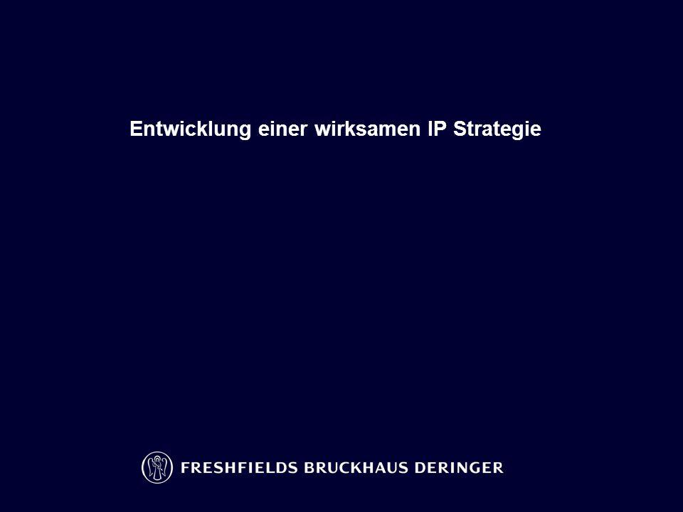 Entwicklung einer wirksamen IP Strategie