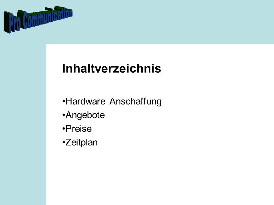 Hardwareanschaffung Kosten ProduktPreis Debian Linux- Apache Webserver- MySQL- Windows Lizenzenvakant Aufschaltgebühren InternetSFr.