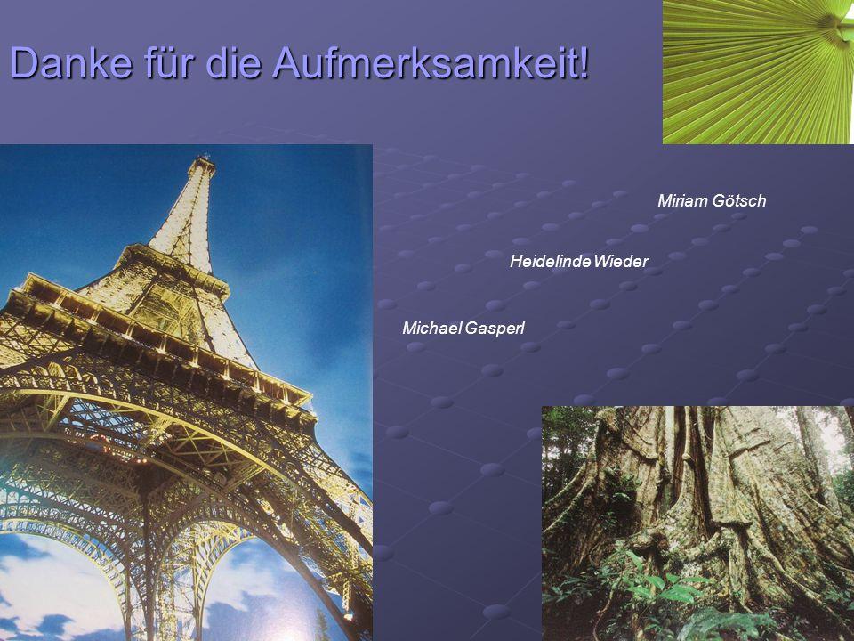 Heidelinde Wieder Miriam Götsch Michael Gasperl Danke für die Aufmerksamkeit!