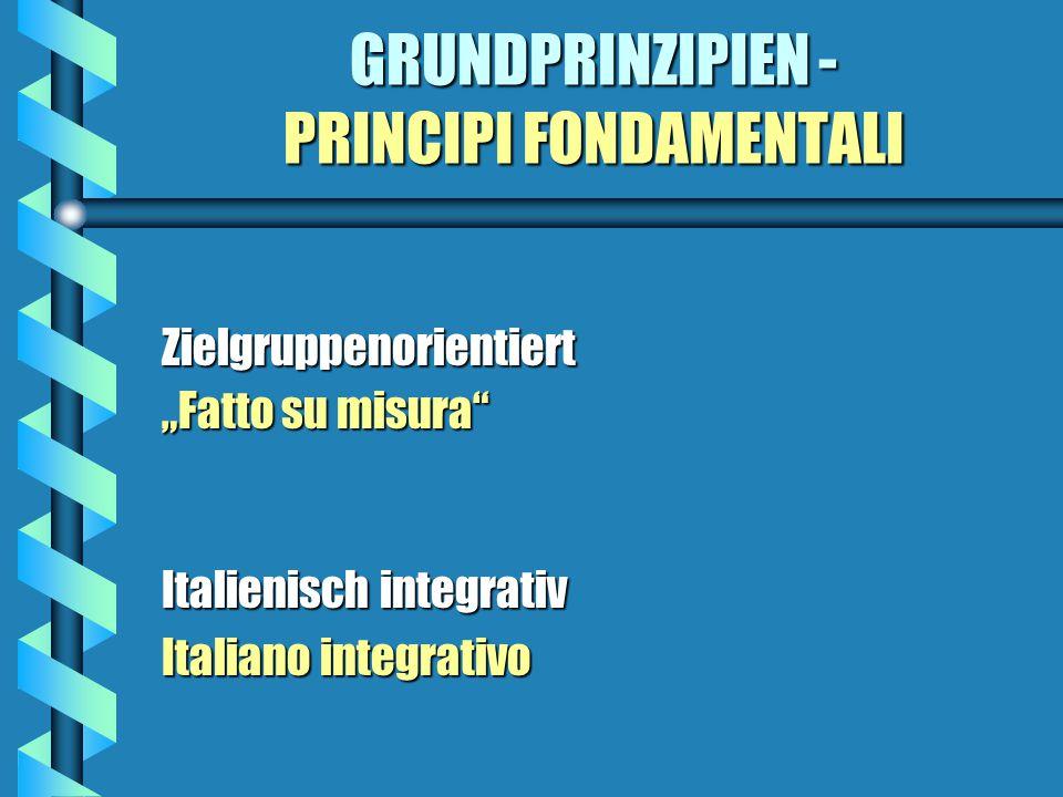 Begründung - Motivazioni Italienisch als Kommunikationssprache Litaliano come lingua di comunicazione