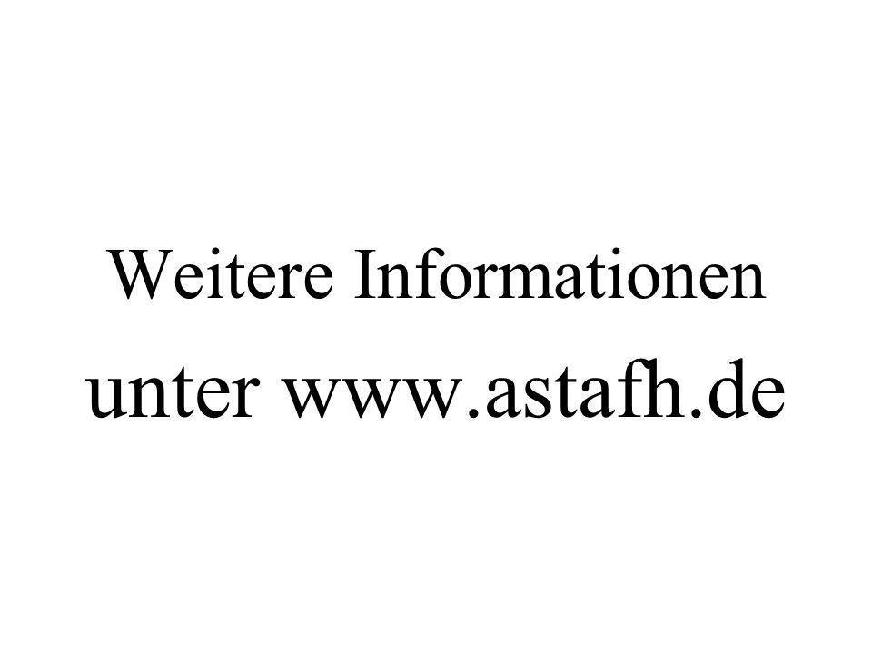 Weitere Informationen unter www.astafh.de