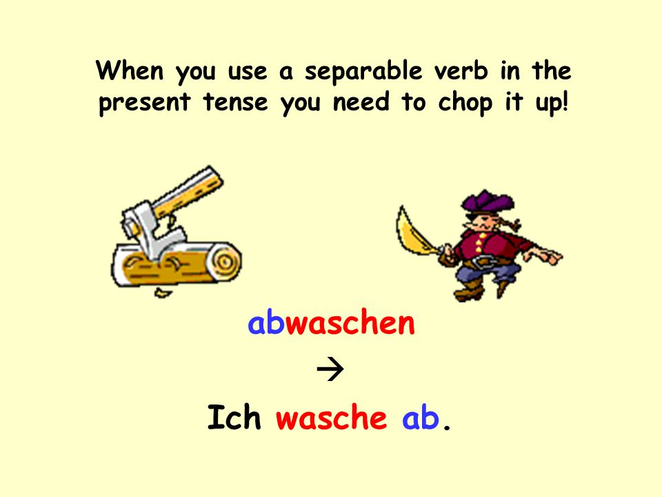 This is how they appear in the infinitive: As one word! abwaschen