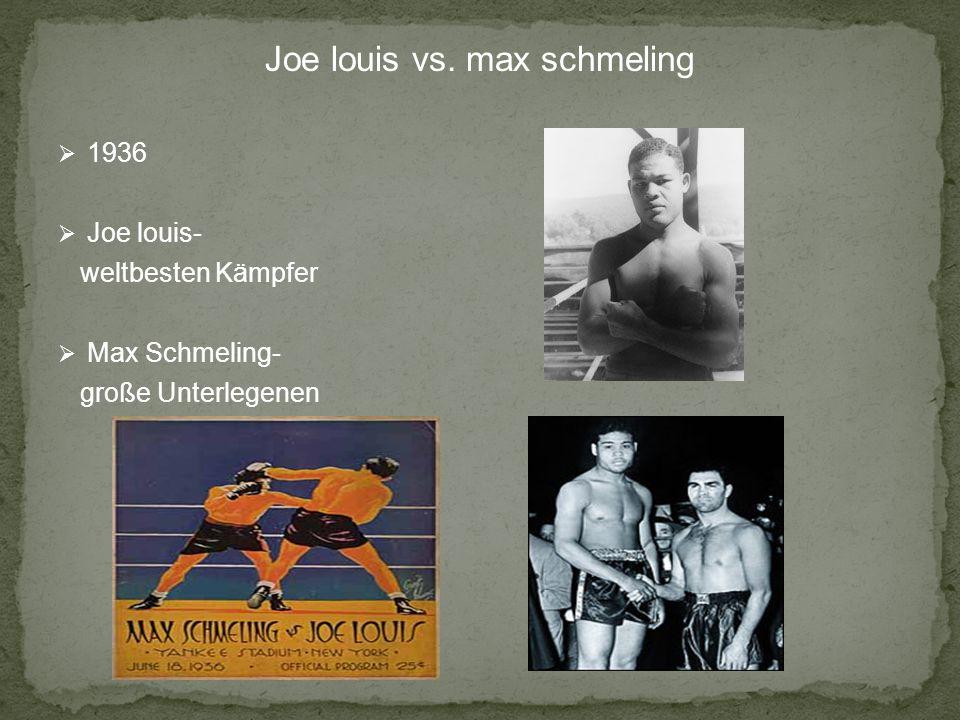 Kampf des Jahres Schmeling hart trainiert dauerte 12 Runden Schmeling TKO Louis Hitler sehr Glücklich