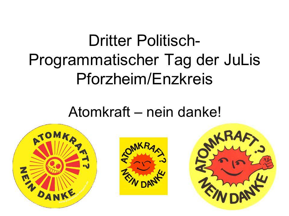 Dritter Politisch- Programmatischer Tag der JuLis Pforzheim/Enzkreis Atomkraft – nein danke!