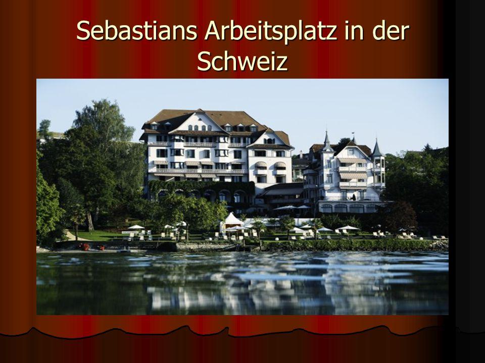 Sebastians Arbeitsplatz in der Schweiz