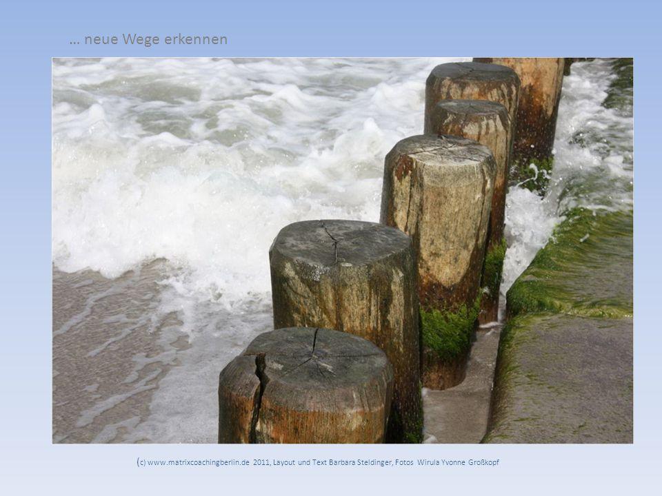 … neue Wege erkennen ( c) www.matrixcoachingberlin.de 2011, Layout und Text Barbara Steldinger, Fotos Wirula Yvonne Großkopf