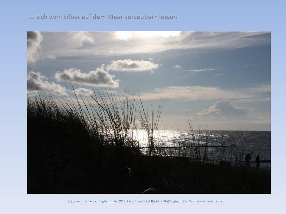… sich vom Silber auf dem Meer verzaubern lassen (c) www.matrixcoachingberlin.de 2011, Layout und Text Barbara Steldinger, Fotos Wirula Yvonne Großkopf