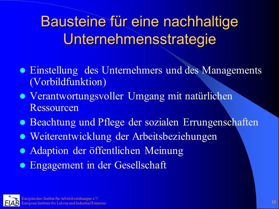 Europäisches Institut für Arbeitsbeziehungen e.V.