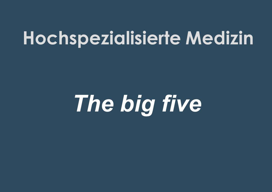 Hochspezialisierte Medizin Internationale Kriterien Spitzenkräfte / Teams Infrastruktur 7x24h, IPS, Radiologie etc……..