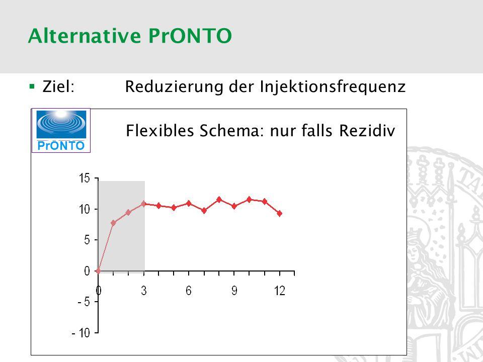 Alternative PrONTO PrONTO Flexibles Schema: nur falls Rezidiv Ziel: Reduzierung der Injektionsfrequenz