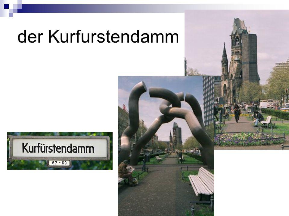 Der Kurfürsterdamm ist eine Prachtstraße Berlins.