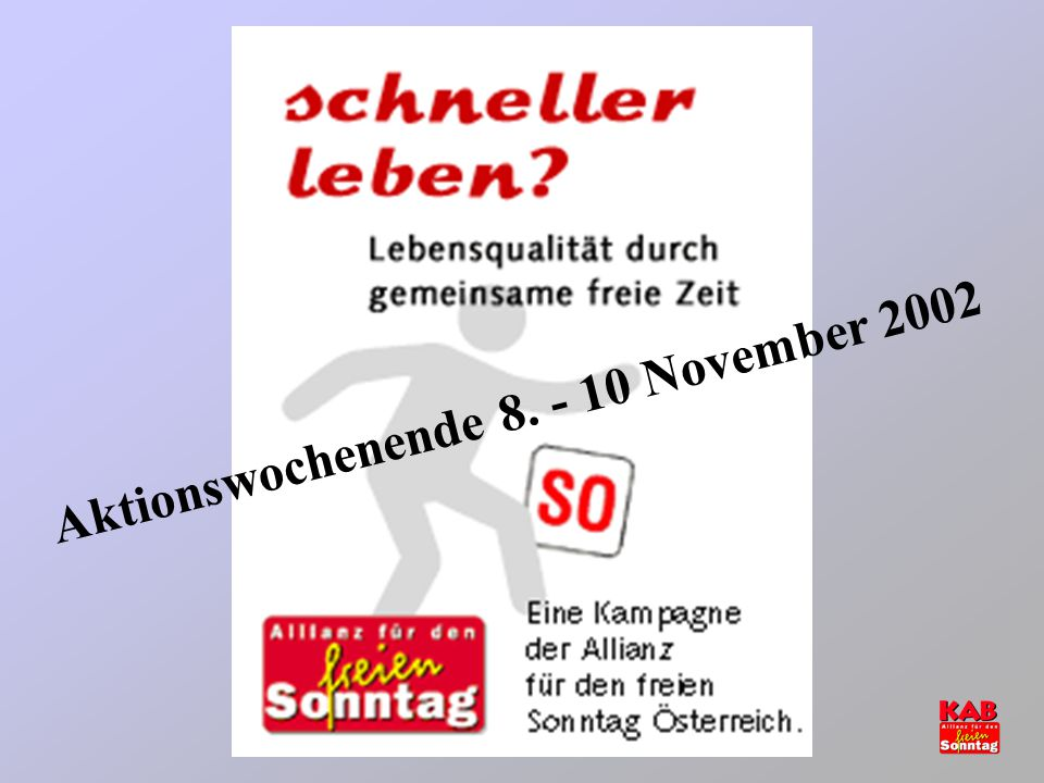 Aktionswochenende 8. - 10 November 2002