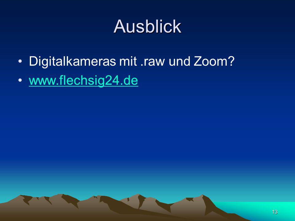 13 Ausblick Digitalkameras mit.raw und Zoom www.flechsig24.de