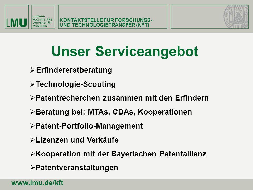 Erfindererstberatung Technologie-Scouting Patentrecherchen zusammen mit den Erfindern Beratung bei: MTAs, CDAs, Kooperationen Patent-Portfolio-Managem