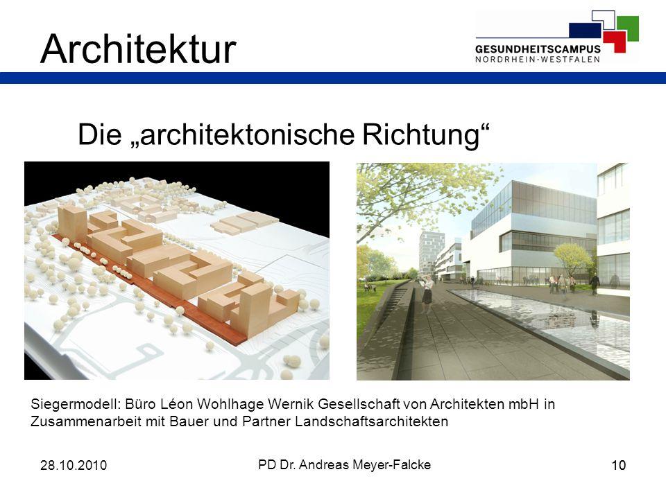 10 Die architektonische Richtung Architektur PD Dr. Andreas Meyer-Falcke Siegermodell: Büro Léon Wohlhage Wernik Gesellschaft von Architekten mbH in Z