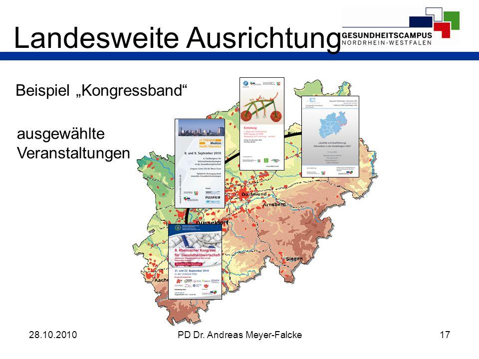 17PD Dr. Andreas Meyer-Falcke Landesweite Ausrichtung Beispiel Kongressband 28.10.2010 ausgewählte Veranstaltungen