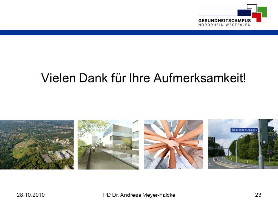 Vielen Dank für Ihre Aufmerksamkeit! 28.10.201023PD Dr. Andreas Meyer-Falcke