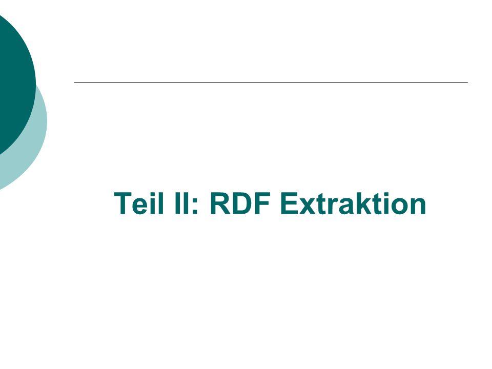 Teil II: RDF Extraktion