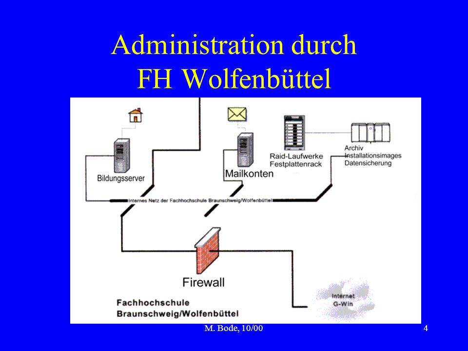 M. Bode, 10/004 Administration durch FH Wolfenbüttel