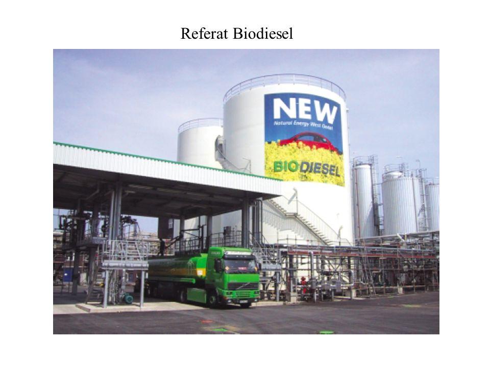 - Biodiesel bezeichnet die Stoffgruppe der Fettsäuremethylester - Formel: CH 2 -OOC-R 1,2,3 - wird mit FAME für fatty acid methyl ester abgekürzt - wird durch Umesterung von Fett und Methanol zu Glycerin und FAME hergestellt - Herstellung aus erneuerbaren Ressourcen - erstmaliges Patent für die Umesterung von Pflanzenölen durch Ethanol und Methanol am 31.