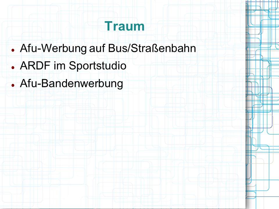 Traum Afu-Werbung auf Bus/Straßenbahn ARDF im Sportstudio Afu-Bandenwerbung