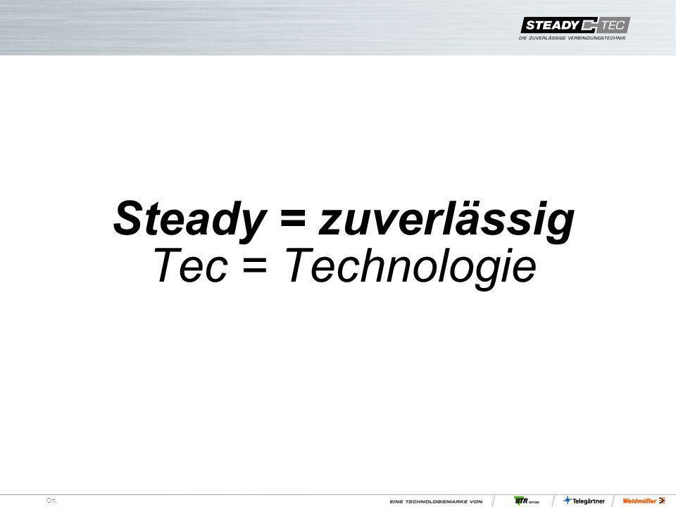 Ort, Steady = zuverlässig Tec = Technologie