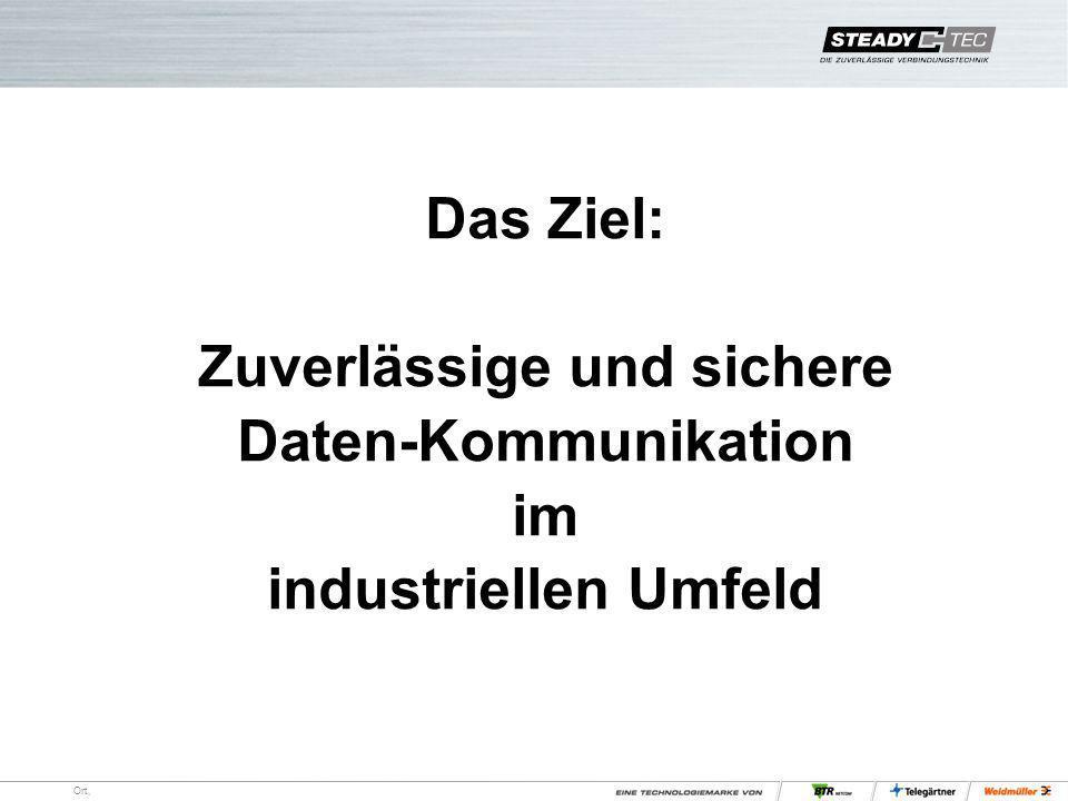 Ort, Das Ziel: Zuverlässige und sichere Daten-Kommunikation im industriellen Umfeld