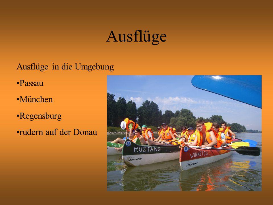 Ausflüge in die Umgebung Passau München Regensburg rudern auf der Donau
