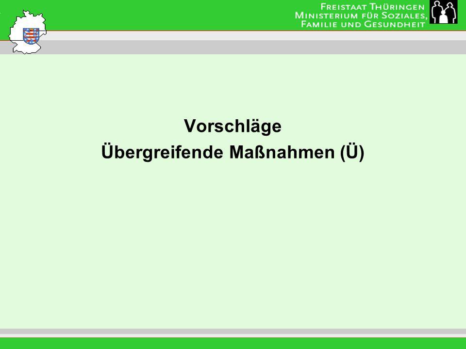 Leitung: Eva Morgenroth Vorschläge Übergreifende Maßnahmen (Ü)
